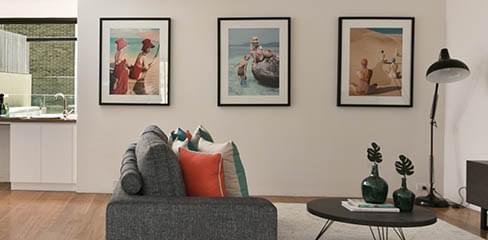 Bildvägg i galleri-stil