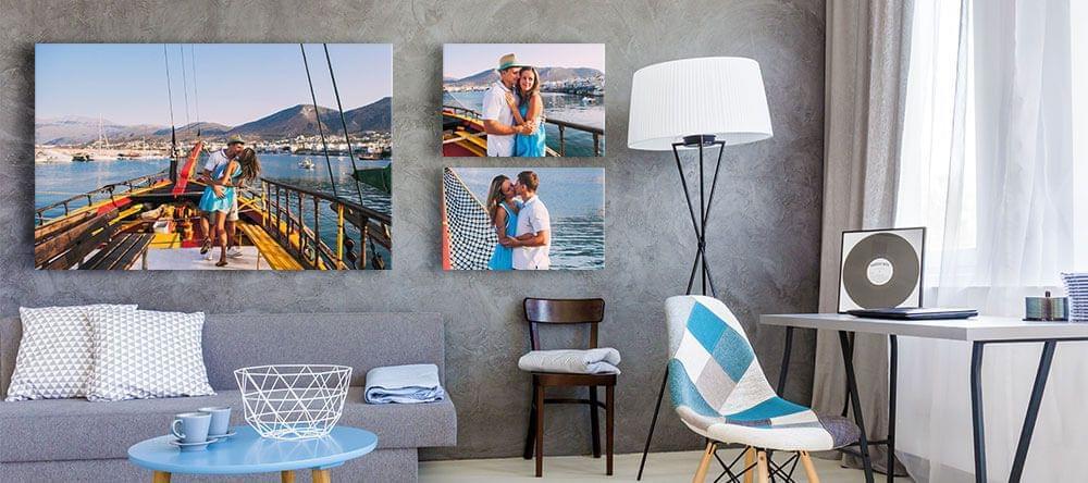 Creatief geordend of een paar grote foto's; wat past bij jouw huis?
