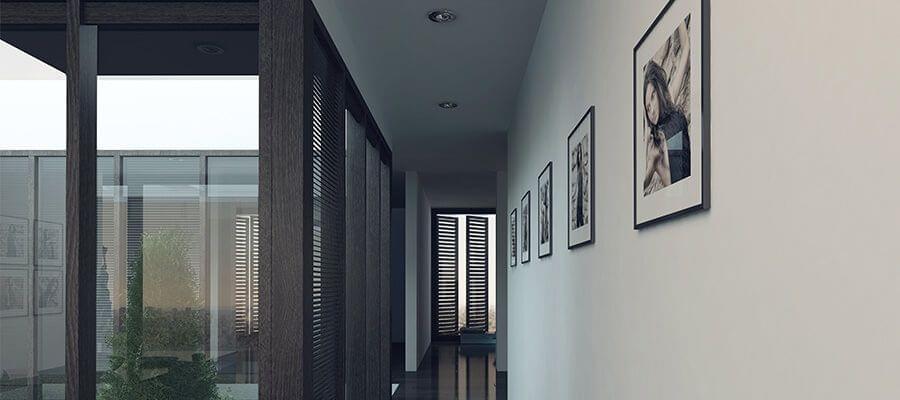Lange gangen zijn perfect voor een galerijophanging van uw foto's