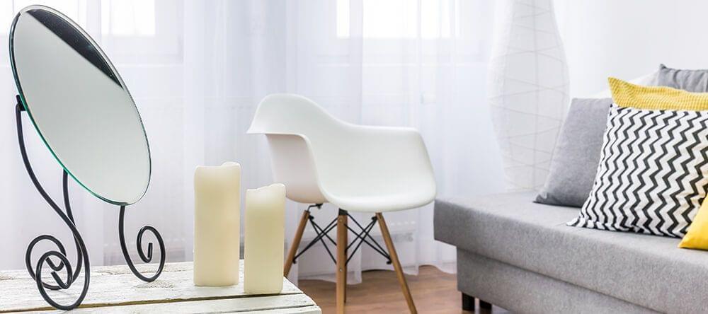 Spiegels vervolledigen je woonkamer in iedere maat als leuke decoratie