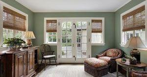 Ook bij de ramen kunnen natuur optiek en functionaliteit worden gecombineerd