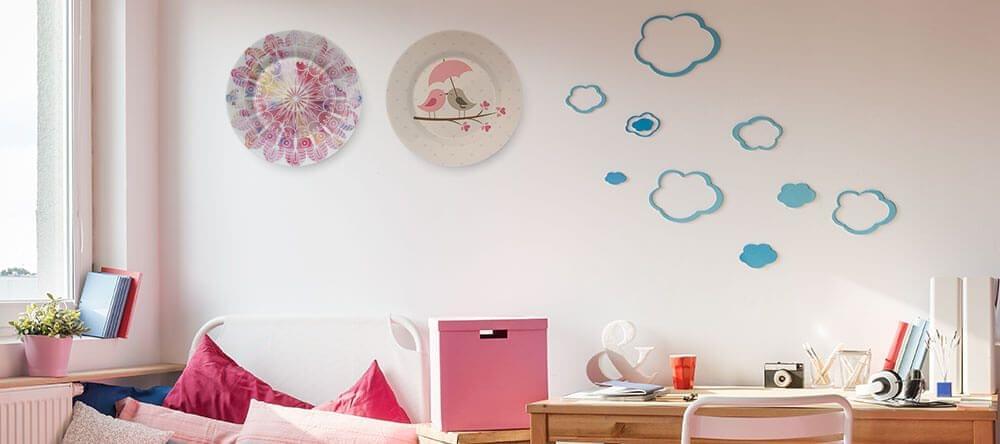 Ofwel van grootmoeder, of volledig modern – borden zien er geweldig uit tussen canvassen
