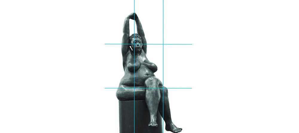 Vrouw standbeeld