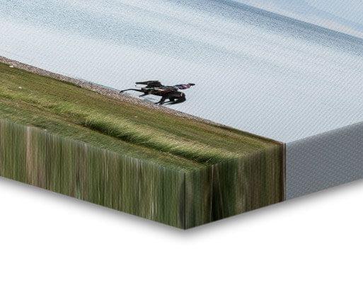 canvas foto uitgetrokken rand