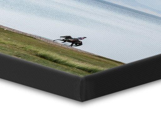 canvas foto zwarte rand