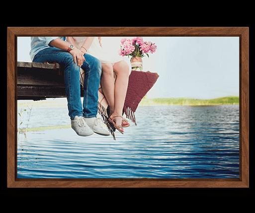 foto canvas premium kader bruin voorzijde