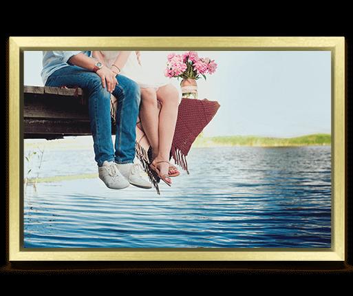 foto canvas premium kader goud voorzijde