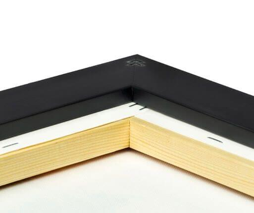 foto canvas premium kader mat zwart rugzijde
