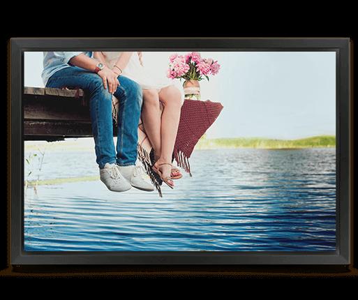 foto canvas premium kader mat zwart voorzijde