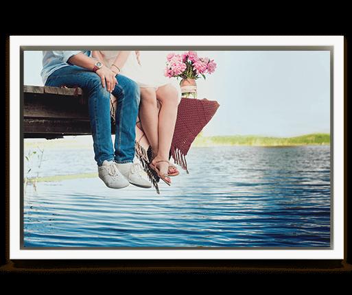 foto canvas premium kader wit voorzijde