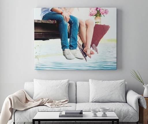 foto op canvas in de kamer