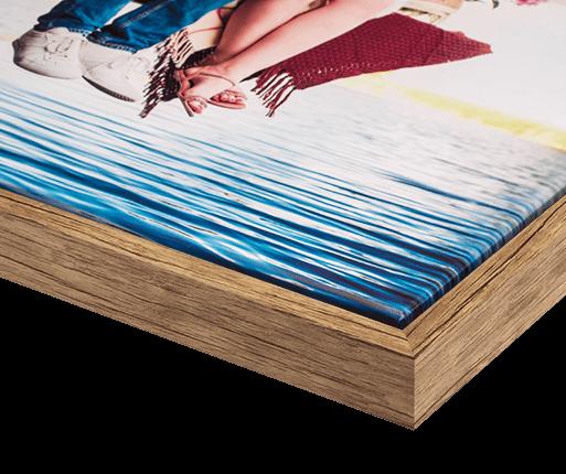 foto canvas premium kader Eiken antiek optiek voorzijde detail