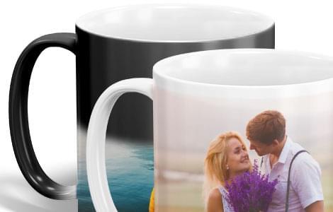 photo mugs close up view