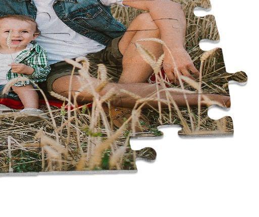 photo puzzle close up view
