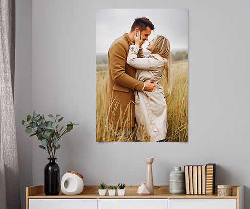 custom photo poster showing young couple
