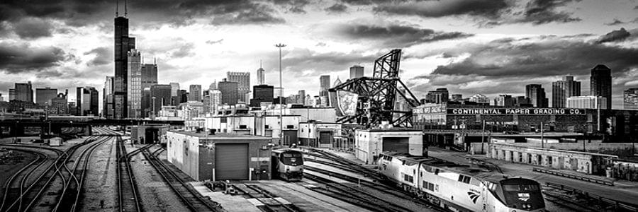 sunset-at-the-rail-yards-hdr-black-and-white-art-photography