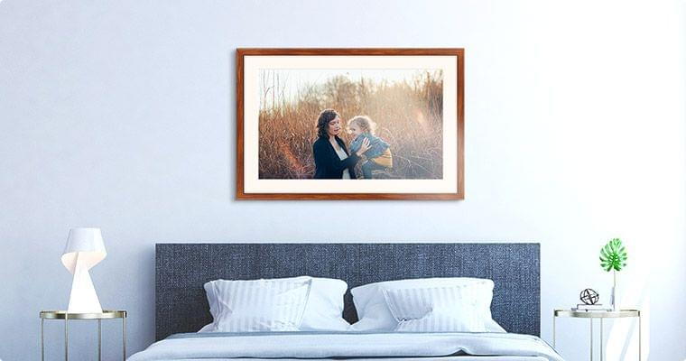 framed prints with passe-partout room view