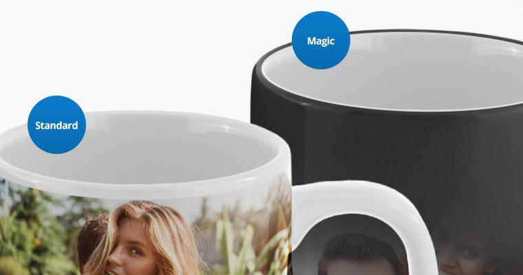 photo mugs closeup