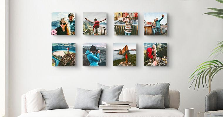 photo tiles print roomview