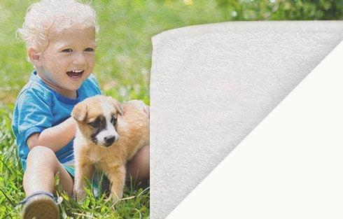 personalized towel closeup