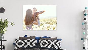 custom canvas print in the interior