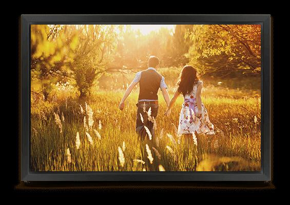 canvas print in black frame fullview
