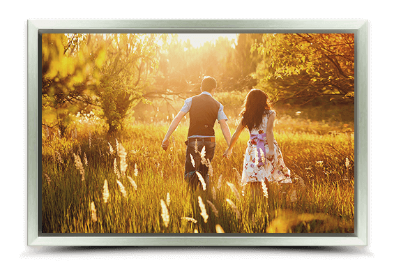 canvas print in silver frame fullview