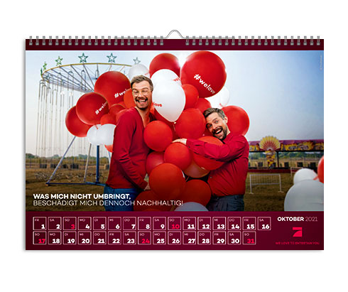 fotokalender komplette ansicht