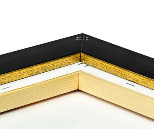 Rückseite des Rahmens in Gold-Optik