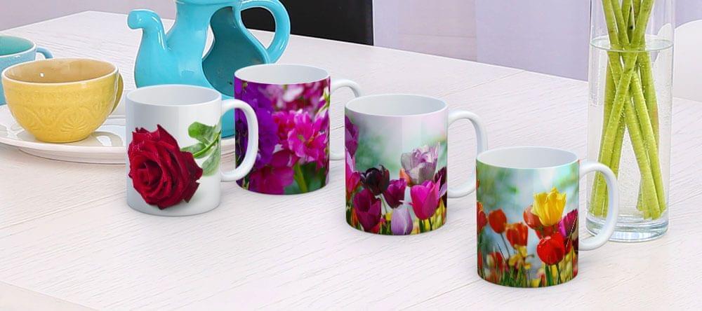 Pinta de color tu día a día: coloridos motivos florales en tus tazas