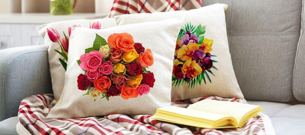 Decora de forma fácil y personalizada, imprime flores en fundas de cojín