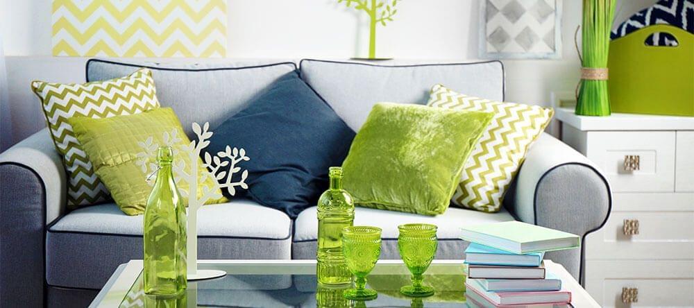 Armonioso y reconfortante – los tonos verdes son colores de total tendencia en 2017.