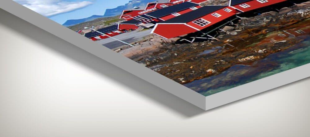 Forex es increíblemente ligero y el papel fotográfico mate garantiza una producción fotográfica estándar de laboratorio.