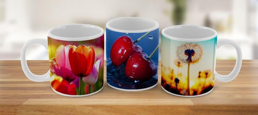 Usa alguno de los diseños de tu cocina para una taza con foto.