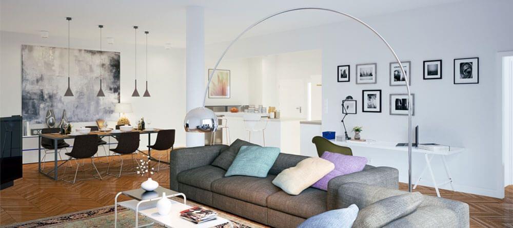Para crear un estilo country en tu hogar, combina o tonos neutros con colores pastel.