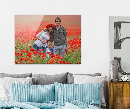 foto bakom akrylglastavla i rummet