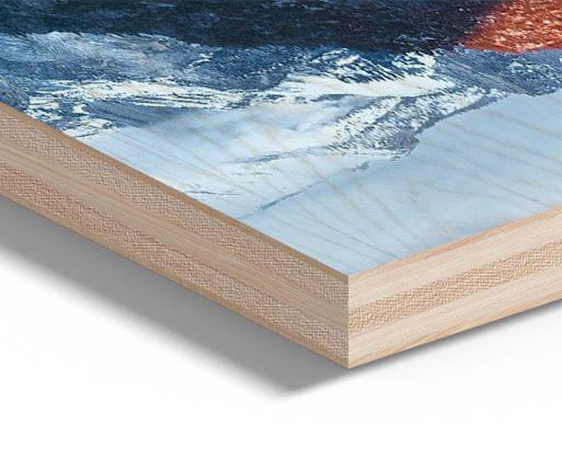 Druk na drewnie detale