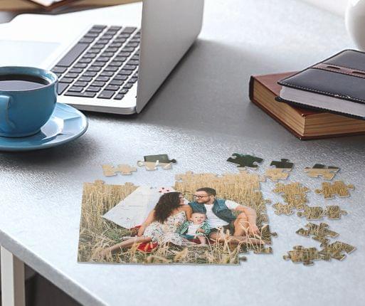 fotopuzzle w pokoju