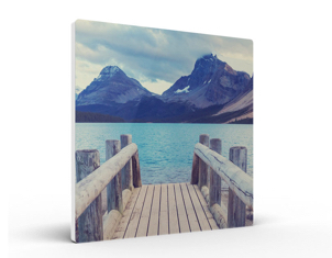 photo board print showing wooden jetty