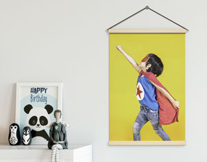 canvas wall hanging room display
