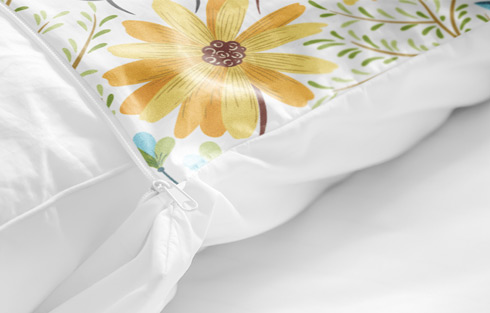 personalised duvet cover detailed view