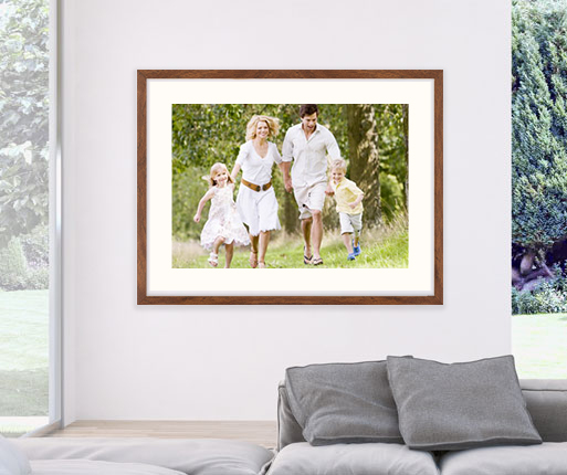 framed photo print in the room