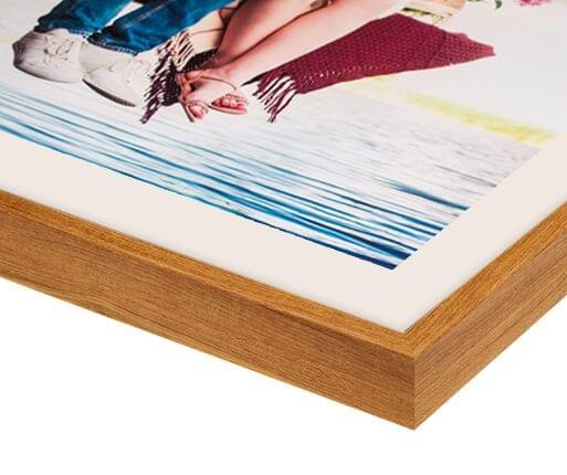 photo in oak finish frame detailed view