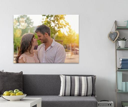 arylic aluminium photo prints in the room