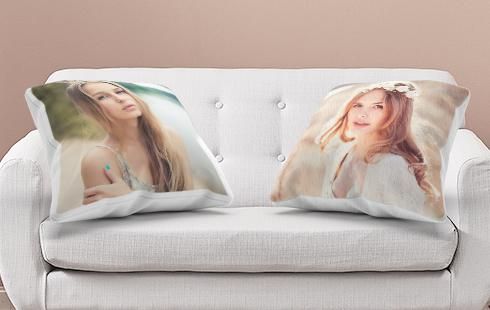 personalised cushions room view