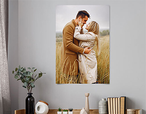photo poster print in room view