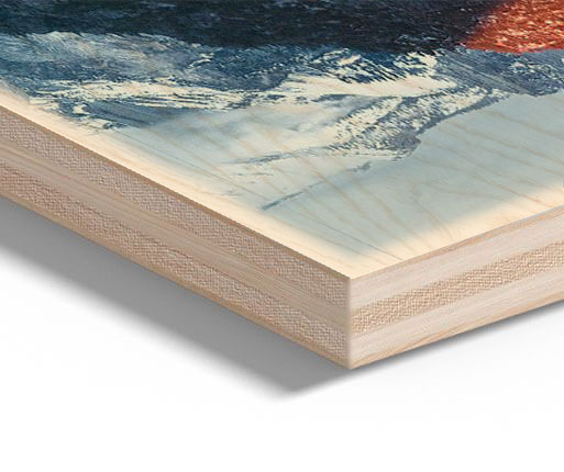 photo printing on wood detailed view