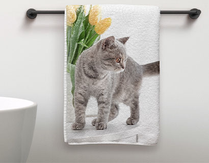 personalised photo towel