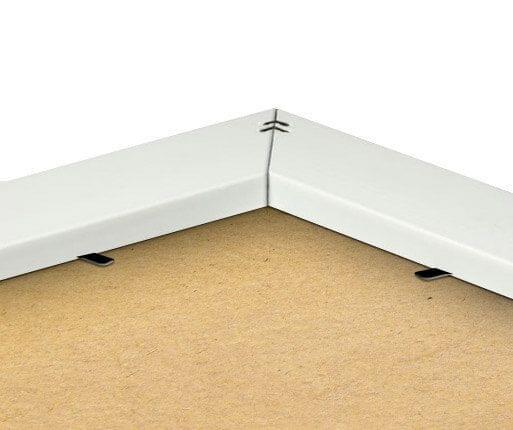 Rückseite des Rahmens in Weiss-Optik