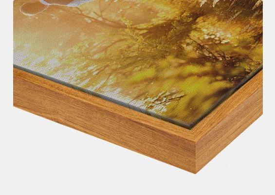 canvas print in ash flair frame closeup front